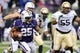 Nov 9, 2013; Seattle, WA, USA; Washington Huskies running back Bishop Sankey (25) carries the ball against the Colorado Buffaloes during the game against the Colorado Buffaloes at Husky Stadium. Washington defeated Colorado 59-7. Mandatory Credit: Steven Bisig-USA TODAY Sports