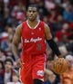 Nov 9, 2013; Houston, TX, USA; Los Angeles Clippers point guard Chris Paul (3) brings the ball up the court during the third quarter against the Houston Rockets at Toyota Center. Mandatory Credit: Troy Taormina-USA TODAY Sports