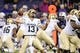 Nov 9, 2013; Seattle, WA, USA; Colorado Buffaloes quarterback Sefo Liufau (13) passes the ball against the Washington Huskies during the game at Husky Stadium. Washington defeated Colorado 59-7. Mandatory Credit: Steven Bisig-USA TODAY Sports