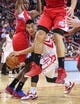 Nov 9, 2013; Houston, TX, USA; Houston Rockets point guard Jeremy Lin (7) passes the ball during the first quarter against the Los Angeles Clippers at Toyota Center. Mandatory Credit: Troy Taormina-USA TODAY Sports