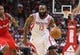 Nov 9, 2013; Houston, TX, USA; Houston Rockets shooting guard James Harden (13) drives the ball during the second quarter against the Los Angeles Clippers at Toyota Center. Mandatory Credit: Troy Taormina-USA TODAY Sports