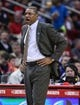 Nov 9, 2013; Houston, TX, USA; Los Angeles Clippers head coach Doc Rivers coaches from the sideline during the second quarter against the Houston Rockets at Toyota Center. Mandatory Credit: Troy Taormina-USA TODAY Sports