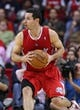 Nov 9, 2013; Houston, TX, USA; Los Angeles Clippers shooting guard J.J. Redick (4) controls the ball during the third quarter against the Houston Rockets at Toyota Center. Mandatory Credit: Troy Taormina-USA TODAY Sports