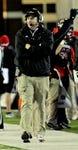 Nov 13, 2013; DeKalb, IL, USA;  Northern Illinois Cardinals head coach Rod Carey walks the sidelines against Ball State Huskies at Huskie Stadium. Mandatory Credit: Matt Marton-USA TODAY Sports