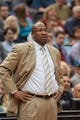 Nov 13, 2013; Minneapolis, MN, USA; Cleveland Cavaliers head coach Mike Brown in the third quarter against the Minnesota Timberwolves at Target Center. The Minnesota Timberwolves win 124-95. Mandatory Credit: Brad Rempel-USA TODAY Sports.