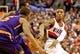 Nov 13, 2013; Portland, OR, USA; Portland Trail Blazers point guard Damian Lillard (0) passes the ball against the Phoenix Suns at the Moda Center. Mandatory Credit: Craig Mitchelldyer-USA TODAY Sports