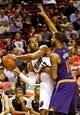 Nov 13, 2013; Portland, OR, USA; Portland Trail Blazers power forward LaMarcus Aldridge (12) looks to pass around Phoenix Suns power forward Markieff Morris (11) at the Moda Center. Mandatory Credit: Craig Mitchelldyer-USA TODAY Sports