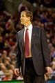 Nov 13, 2013; Portland, OR, USA; Portland Trail Blazers head coach Terry Stotts looks up at the scoreboard during the second quarter against the Phoenix Suns at the Moda Center. Mandatory Credit: Craig Mitchelldyer-USA TODAY Sports