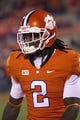 Nov 14, 2013; Clemson, SC, USA; Clemson Tigers wide receiver Sammy Watkins (2) prior to the game against the Georgia Tech Yellow Jackets at Clemson Memorial Stadium. Mandatory Credit: Joshua S. Kelly-USA TODAY Sports