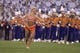 Nov 14, 2013; Clemson, SC, USA; Clemson Tigers twirler performs prior to the game against the Georgia Tech Yellow Jackets at Clemson Memorial Stadium. Mandatory Credit: Joshua S. Kelly-USA TODAY Sports