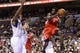 Nov 13, 2013; Philadelphia, PA, USA; Houston Rockets guard Patrick Beverley (2) passes the ball during the second quarter against the Philadelphia 76ers at Wells Fargo Center. The Sixers defeated the Rockets 123-117. Mandatory Credit: Howard Smith-USA TODAY Sports