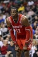 Nov 13, 2013; Philadelphia, PA, USA; Houston Rockets forward Dwight Howard (12) during the third quarter against the Philadelphia 76ers at Wells Fargo Center. The Sixers defeated the Rockets 123-117. Mandatory Credit: Howard Smith-USA TODAY Sports