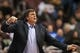 Nov 13, 2013; Philadelphia, PA, USA; Houston Rockets head coach Kevin McHale during the fourth quarter against the Philadelphia 76ers at Wells Fargo Center. The Sixers defeated the Rockets 123-117. Mandatory Credit: Howard Smith-USA TODAY Sports