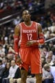 Nov 13, 2013; Philadelphia, PA, USA; Houston Rockets forward Dwight Howard (12) during the fourth quarter against the Philadelphia 76ers at Wells Fargo Center. The Sixers defeated the Rockets 123-117. Mandatory Credit: Howard Smith-USA TODAY Sports