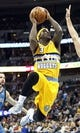 Nov 15, 2013; Denver, CO, USA; Denver Nuggets point guard Ty Lawson (3) attempts a shot in the first quarter against the Minnesota Timberwolves at the Pepsi Center. Mandatory Credit: Isaiah J. Downing-USA TODAY Sports