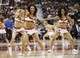 Nov 15, 2013; Toronto, Ontario, CAN; Toronto Raptors dance team performs during a break in the action against the Chicago Bulls at the Air Canada Centre. Chicago defeated Toronto 96-80. Mandatory Credit: John E. Sokolowski-USA TODAY Sports