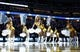Nov 15, 2013; Denver, CO, USA; Denver Nuggets dancers perform before the start of the game against the Minnesota Timberwolves at the Pepsi Center. The Nuggets won 117-113. Mandatory Credit: Isaiah J. Downing-USA TODAY Sports