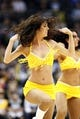 Nov 15, 2013; Denver, CO, USA; Denver Nuggets dancers perform in the second quarter against the Minnesota Timberwolves at the Pepsi Center. The Nuggets won 117-113. Mandatory Credit: Isaiah J. Downing-USA TODAY Sports