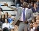 Nov 15, 2013; Salt Lake City, UT, USA; Utah Jazz head coach Tyrone Corbin during the second half against the San Antonio Spurs at EnergySolutions Arena. San Antonio won 91-82. Mandatory Credit: Russ Isabella-USA TODAY Sports