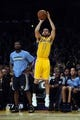 Nov 15, 2013; Los Angeles, CA, USA; Los Angeles Lakers guard Jordan Farmar (1) attempts a three point shot against the Memphis Grizzlies during the fourth quarter at Staples Center. The Memphis Grizzlies defeated the Los Angeles Lakers 89-86. Mandatory Credit: Kelvin Kuo-USA TODAY Sports