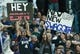 Nov 15, 2013; Sacramento, CA, USA; Sacramento Kings fans hold up signs during the fourth quarter of the game against the Detroit Pistons at Sleep Train Arena. The Detroit Pistons defeated the Sacramento Kings 97-90. Mandatory Credit: Ed Szczepanski-USA TODAY Sports