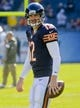 Nov 10, 2013; Chicago, IL, USA;  Chicago Bears quarterback Josh McCown (12) before the game against the Lions at Soldier Field. Mandatory Credit: Matt Marton-USA TODAY Sports