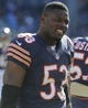Nov 10, 2013; Chicago, IL, USA;  Chicago Bears linebacker Jerry Franklin (53) before the game against the Lions at Soldier Field. Mandatory Credit: Matt Marton-USA TODAY Sports