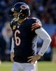 Nov 10, 2013; Chicago, IL, USA;  Chicago Bears quarterback Jay Cutler (6) during the game against the Lions at Soldier Field. Mandatory Credit: Matt Marton-USA TODAY Sports