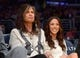 Nov 12, 2013; Los Angeles, CA, USA; Aerosmith lead singer and entertainer Steven Tyler attends the NBA game between the New Orleans Pelicans and the Los Angeles Lakers at Staples Center. Mandatory Credit: Kirby Lee-USA TODAY Sports