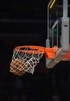 Nov 12, 2013; Los Angeles, CA, USA; General view of a basketball and the rim and the backboard during the NBA game between the New Orleans Pelicans and the Los Angeles Lakers at Staples Center. Mandatory Credit: Kirby Lee-USA TODAY Sports