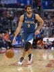 Nov 11, 2013; Los Angeles, CA, USA; Minnesota Timberwolves guard Ricky Rubio (9) dribbles the ball against the Los Angeles Clippers at Staples Center. The Clippers defeated the Timberwolves 109-107. Mandatory Credit: Kirby Lee-USA TODAY Sports