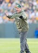 Nov 10, 2013; Green Bay, WI, USA; Green Bay Packers head coach Mike McCarthy during the game against the Philadelphia Eagles at Lambeau Field.  Philadelphia won 27-13.  Mandatory Credit: Jeff Hanisch-USA TODAY Sports