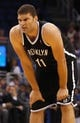 Nov 3, 2013; Orlando, FL, USA; Brooklyn Nets center Brook Lopez (11) against the Orlando Magic during the second quarter at Amway Center. Mandatory Credit: Kim Klement-USA TODAY Sports