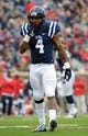 Nov 16, 2013; Oxford, MS, USA; Mississippi Rebels linebacker Denzel Nkemdiche (4) during the first half against the Troy Trojans at Vaught-Hemingway Stadium. Mandatory Credit: Justin Ford-USA TODAY Sports