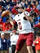 Nov 16, 2013; Oxford, MS, USA; Troy Trojans quarterback Corey Robinson (6) passes the ball against Mississippi Rebels during the third quarter at Vaught-Hemingway Stadium. Mississippi Rebels beat the Troy Trojans 51-21. Mandatory Credit: Justin Ford-USA TODAY Sports