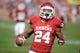 Nov 16, 2013; Norman, OK, USA; Oklahoma Sooners running back Brennan Clay (24) runs for a touchdown against the Iowa State Cyclones in the second half at Gaylord Family - Oklahoma Memorial Stadium. Mandatory Credit: Mark D. Smith-USA TODAY Sports