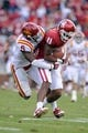 Nov 16, 2013; Norman, OK, USA; Oklahoma Sooners wide receiver Lacoltan Bester (11) catches a pass while being defended by Iowa State Cyclones defensive back Jacques Washington (5) in the second half at Gaylord Family - Oklahoma Memorial Stadium. Mandatory Credit: Mark D. Smith-USA TODAY Sports