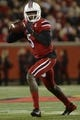 Nov 16, 2013; Louisville, KY, USA; Louisville Cardinals quarterback Teddy Bridgewater (5) prepares to throw the ball against the Houston Cougars during the first quarter at Papa John's Cardinal Stadium. Mandatory Credit: Jamie Rhodes-USA TODAY Sports