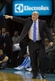 Nov 16, 2013; Charlotte, NC, USA; Charlotte Bobcats head coach Steve Clifford yells out directions during the first half against the Miami Heat at Time Warner Cable Arena. Mandatory Credit: Jeremy Brevard-USA TODAY Sports