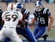 Nov 16, 2013; Durham, NC, USA; Duke Blue Devils quarterback Brandon Connette (18) runs with the ball against the Miami Hurricanes at Wallace Wade Stadium. Mandatory Credit: Mark Dolejs-USA TODAY Sports
