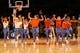 Nov 16, 2013; New York, NY, USA;  New York Knicks City Kids perform during the game against the Atlanta Hawks at Madison Square Garden. Atlanta Hawks won 110-90.  Mandatory Credit: Anthony Gruppuso-USA TODAY Sports