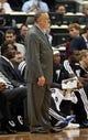 Nov 16, 2013; Minneapolis, MN, USA; Minnesota Timberwolves head coach Rick Adelman looks on during the second half against the Boston Celtics at Target Center. The Timberwolves won 106-88. Mandatory Credit: Jesse Johnson-USA TODAY Sports