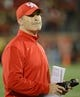 Nov 16, 2013; Louisville, KY, USA; Houston Cougars head coach Tony Levine looks up at the scoreboard during the second half of play against the Louisville Cardinals at Papa John's Cardinal Stadium. Louisville defeated Houston 20-13.  Mandatory Credit: Jamie Rhodes-USA TODAY Sports