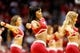 Nov 16, 2013; Houston, TX, USA; Houston Rockets cheerleaders perform during the first half against the Denver Nuggets at Toyota Center. The Rockets won 122-111. Mandatory Credit: Soobum Im-USA TODAY Sports
