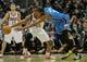 Nov 16, 2013; Milwaukee, WI, USA;  Oklahoma City Thunder forward Kevin Durant (35) and Milwaukee Bucks forward Khris Middleton (22) reach for a loose ball in the 3rd quarter at BMO Harris Bradley Center. Mandatory Credit: Benny Sieu-USA TODAY Sports
