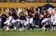 Nov 16, 2013; Tempe, AZ, USA; Arizona State Sun Devils quarterback Taylor Kelly (10) makes a pass in the first half of the game against Oregon State Beavers defense at Sun Devil Stadium. Mandatory Credit: Jennifer Stewart-USA TODAY Sports