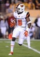 Nov 16, 2013; Tempe, AZ, USA; Oregon State Beavers wide receiver Victor Bolden (6) runs the ball in the first half against Arizona State Sun Devils at Sun Devil Stadium. Mandatory Credit: Jennifer Stewart-USA TODAY Sports