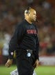 Nov 16, 2013; Los Angeles, CA, USA; Stanford Cardinal coach David Shaw reacts during the game against the Southern California Trojans at Los Angeles Memorial Coliseum. Mandatory Credit: Kirby Lee-USA TODAY Sports