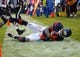 Nov 17, 2013; Chicago, IL, USA; Chicago Bears wide receiver Brandon Marshall (15) catches a pass and is ruled out of bounds during the first half against the Baltimore Ravens at Soldier Field. Mandatory Credit: Dennis Wierzbicki-USA TODAY Sports