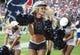 Nov 17, 2013; Houston, TX, USA; A Houston Texans cheerleader performs during a game Oakland Raiders at Reliant Stadium. Mandatory Credit: Troy Taormina-USA TODAY Sports